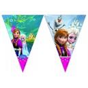 1 Vimpeļu (karodziņu) virtene (9 karodziņi) DISNEY FROZEN ICE SKATING svētku atribūtika