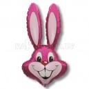"""Balons folijas - ZAKIS, roza - piepusams ar heliju, leila figure, izmers 35""""/90cm.h x 23""""/58cm.w"""