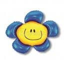 """Balons folijas - PUĶE AR SMAIDIŅU, zilā krāsā - piepūšams ar hēliju, leilā figūre, izmērs 35""""/88cm.h x 41""""/104cm.w"""