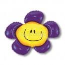 """Balons folijas - PUĶE AR SMAIDIŅU, violetā krāsā - piepūšams ar hēliju, leilā figūre, izmērs 35""""/88cm.h x 41""""/104cm.w"""