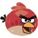 """Balons folijas - DUSMĪGIE PUTNI, sarkans putns - piepūšams ar hēliju, leilā figūre, izmērs 21""""/53cm w x 19""""/48cm h"""