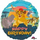 "18""/45cm ""Lion Guard Happy Birthday"" Folienballon Rund, S60, verpackt, 43cm"