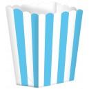 Papīra trauciņi popkornam, karību zili, 5 gab., 9.5 x 13.5 cm