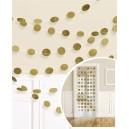 """Karināmas dekorācijas """"Spīdīgas-zelta""""  6 gab. x 213 cm"""