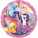 "Folija  hēlija balons ""My Little Pony Birthday"" , 43 cm, iepakots"