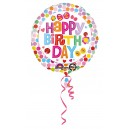"Follijas hēlija balons ""Happy Birthday Flower"",  43cm, iepakots"